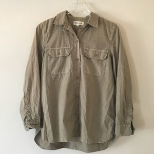[Madewell] Light Olive Utility Shirt